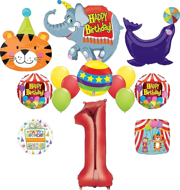 1st Birthday Circus Balloon Bouquets