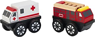 美国KidKraft儿童玩具消防车救护车玩具套装礼物