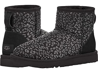 UGG Classic Mini Snow Leopard (Black) Women