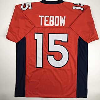 78f77e35f Unsigned Tim Tebow Denver Orange Custom Stitched Football Jersey Size Men s  XL New No Brands