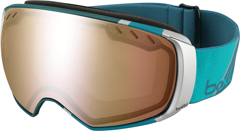 Bolle 21289 bluee Green Plaid Virtuose Visor Goggles Lens Category 3 Lens Mirr