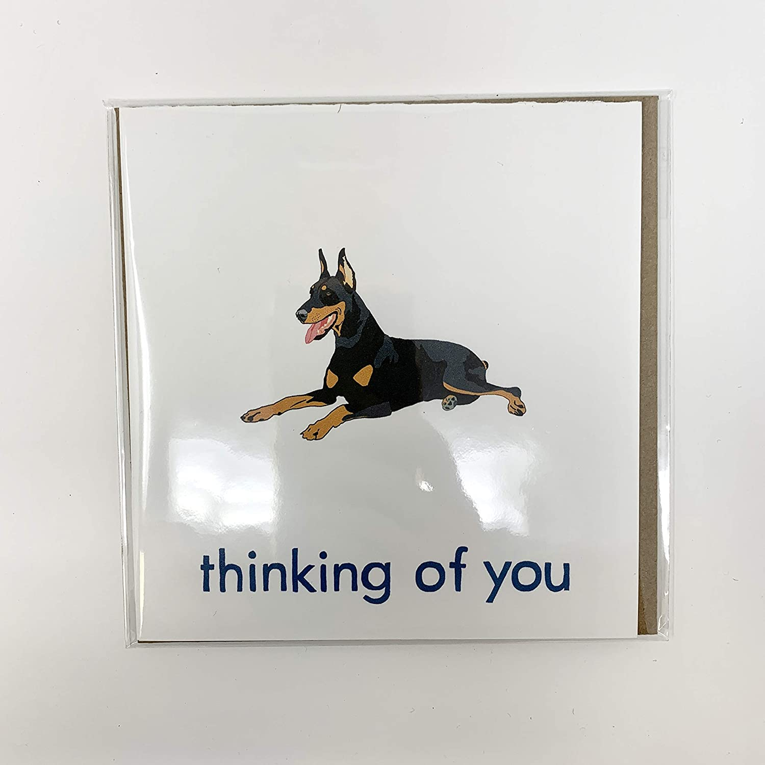 Doberman Pinscher Great Popularity interest Thinking of You Greeting Card