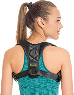 Bonne Vie Lab Posture Corrector for Women and Men - Effective and Comfortable Adjustable Shoulder Brace - Discreet All Size Back Support - Hunchback Device - 3 Bonuses - for Slouching Hunching