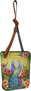 Women's Genuine Leather Two Sided Zip Travel Organizer | Hand Painted Original Artwork