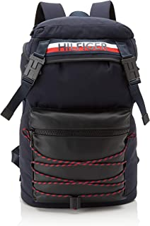 Tommy Hilfiger - Urban Mix Flap Backpack, Shoppers y bolsos de hombro Hombre, Multicolor (Corporate), 14x48x31 cm (W x H L)