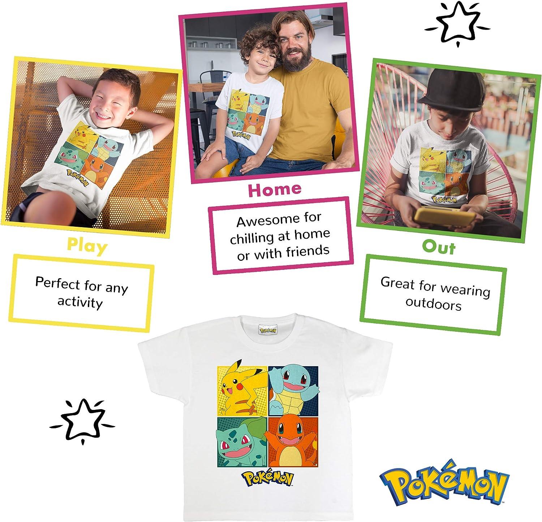 Compleanno dei Capretti Idea Regalo Ragazzi Pokemon da Regalo et/à 3-13 Pikachu Merchandise Ufficiale Pokemon Piazze Ragazzi T-Shirt i Vestiti dei Bambini