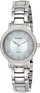 CITIZEN Womens Quartz Watch, Analog Display and Stainless Steel Strap - EL3040-55L