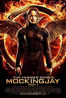 Movie Poster The Hunger Games 3 : Mockingjay Part 1 (2013) - Katniss Fire - 13 in x 19 in Flyer Borderless + Free 1 Tile Magnet