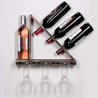 Best hanging wine bottle and glass rack Reviews