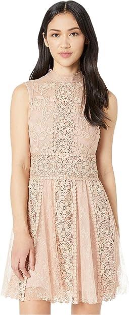 Tulle/Macrame Border Dress