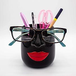 Luvberries - Ceramic Eyeglasses Holder and Desk Organizer Vase, Eyewear and Stationery Organizer, Makeup Essentials Holde...