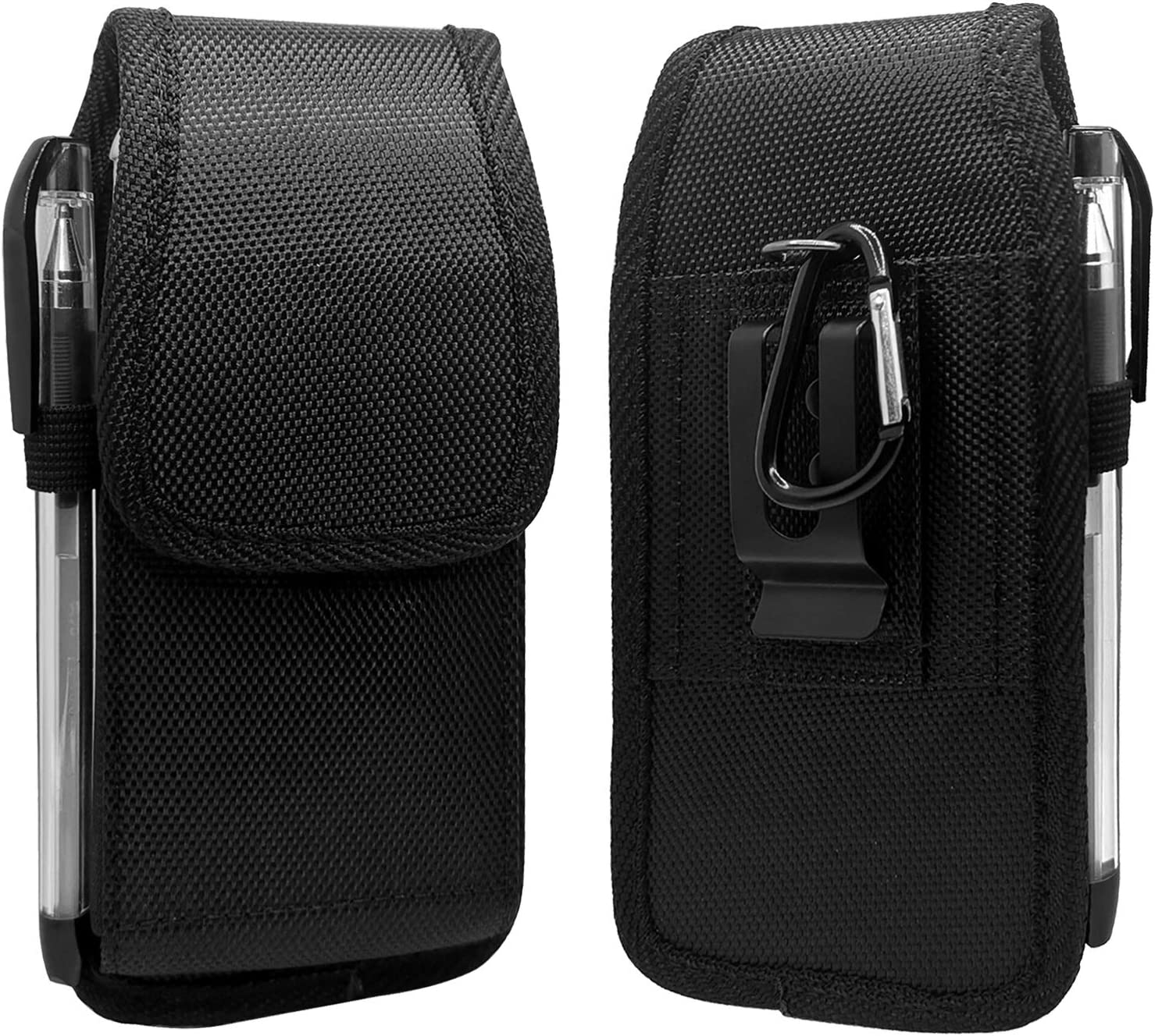 SZCINSEN Cell Phone Holster for iPhone 12 Pro 12 11 XR,for Samsung S21 5G,Note10, S20, S7 Edge, A41 Belt Clip Phone Pouch Bag Carry Case with Pen Holder