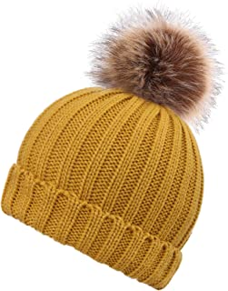 Best double pom pom hat with fur Reviews