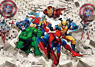 Superhero Superman Photography Backdrops 10x7ft Anime Cartoon Baby Birthday Background Vinyl Wallpaper Banner Theme Party ...