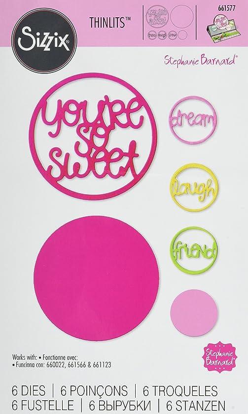 Sizzix 661577 Thinlits Die Set, Word Circles by Stephanie Barnard (6-Pack)