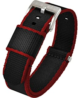 Jetson NATO Style Watch Strap - Seatbelt Nylon Weave - Stainless Steel Buckle - Choice of Color & Width 18mm, 20mm, 22mm or 24mm - Seat Belt Nylon Watch Bands