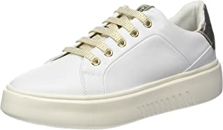 GEOX Womens Trainers D Nhenbus A Nappa Leather Casual Shoes - White