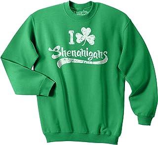 I Clover Shenanigans Funny Saint Patricks Day Clover St Patty Unisex Sweatshirt
