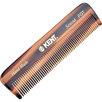 Kent A FOT Handmade All Fine Tooth Saw Cut Beard Comb - Pocket Comb and Travel Comb - Styling Comb or Wet Comb for Fine or Thinning Hair, Beard Care, and Hair Care for the Essential Kent Beard Kit