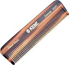 Kent A FOT Handmade All Fine Tooth Saw Cut Beard Comb - Pocket Comb and Travel Comb - Styling Comb or Wet Comb for Fine or...