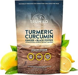Turmeric Curcumin Drink Mix Powder + Organic Curcuminoid Black Pepper, Ginger, Cayenne Pepper, Lemon, Himalayan Salt - Natural Anti-Inflammatory - Restore PH Balance - Encourage Joint Health