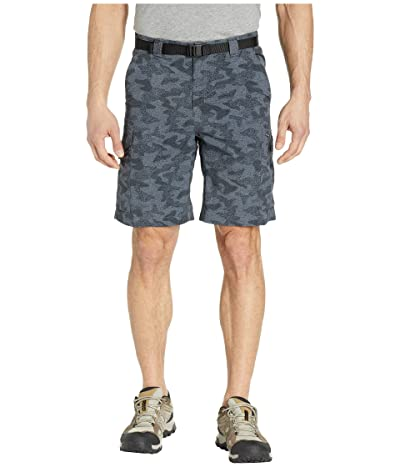 Columbia Silver Ridgetm Printed Cargo Short (Black Heather Camo Print) Men