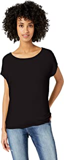 Daily Ritual Amazon Brand Women's Supersoft Terry Dolman Short-Sleeve Tie-Back Shirt