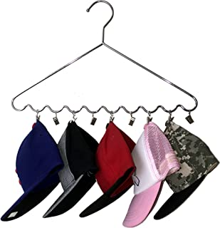 Good Cushion Chromed DR Steel Sport Cap and Hat Organizing Hanger, USA Patented, 2 pcs