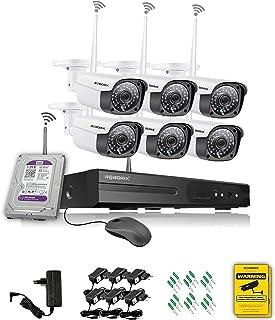 ROBORIX 6 Camera 3MP Wireless CCTV Complete Kit with WIFI Indoor Outdoor IP Bullet ULTRA HD 2K (3.0 Megapixel, 8 Channel N...