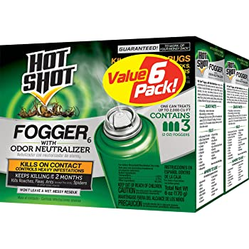 Hot Shot Fogger6 With Odor Neutralizer, 3/2-Ounce, 2-Pack