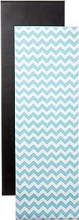 Locker Designz Back to School Magnetic Wallpaper, Chevron, Blue with Chalkboard