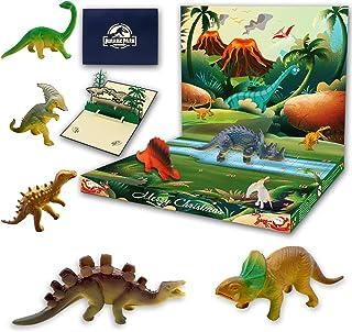 HAIGOU Dinosaurs Advent Calendar - DIY Kit - Countdown to for Kids Boys Girls Teens with a 3D Greeting Card