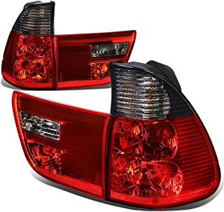 For BMW E53 X5 Pair of Smoked Lens Red Rear Tail Brake+Corner Signal Light