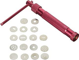 Red Clay Cake Sculpture Gun With 20 Tips Clay Craft Sugar Paste Extruder Fondant Cake Sculpture Polymer Gun Tool