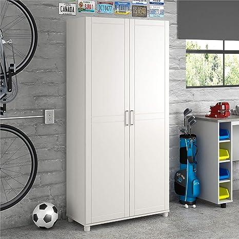 Amazon Com Systembuild Callahan Utility Storage 36 Inch White Home Kitchen