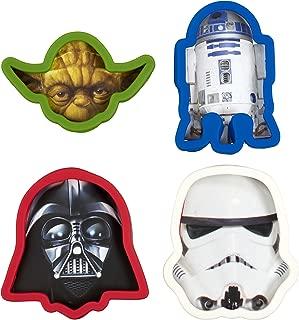 Star Wars Cookie Cutter, Darth Vader, Yoda, Storm Trooper, R2D2 (Set of 4)