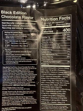 Huel Black Edition – Nutricionalmente completo 100% vegano sin gluten, menos carbohidratos más proteínas – Comida en polvo 2 Bags and Starter Kit