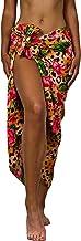 King Kameha Hawaii Sarong Pareo Strand Wickel Damen Funky Casual Bikini Cover Up Strandkleid Badeanzug Leopard Blumen Print