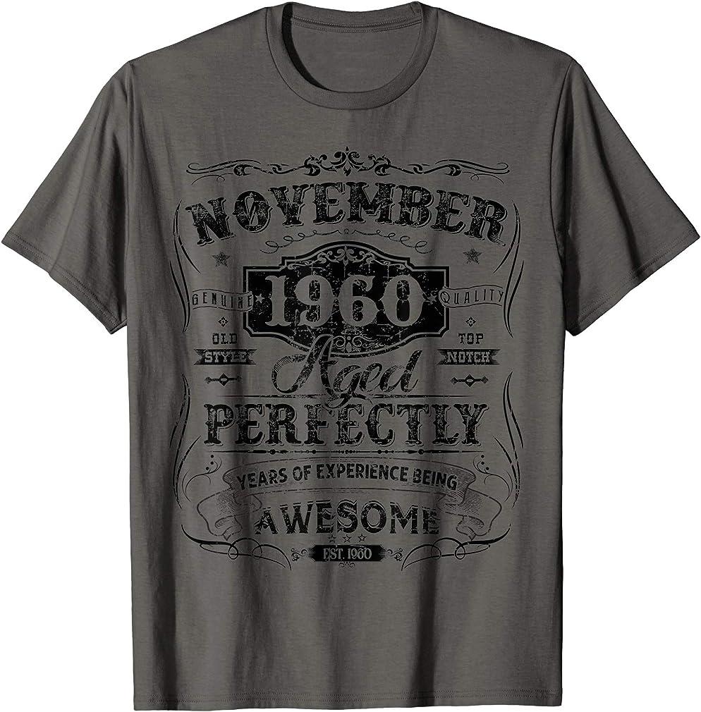 Classic 60th Birthday Gifts Women Girl Vintage November 1960 T-shirt