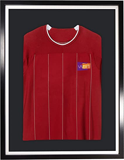 Vivarti DIY adulto deportes camisa pantalla marco 60x80cm - marco negro, interior blanco, montaje negro