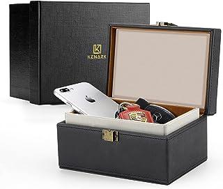 $29 » Sponsored Ad - KENARK KK6M-BK Faraday Key Fob Protector Box, Signal Shielding Box, Anti-Theft Car Key Box, RFID Blocking B...