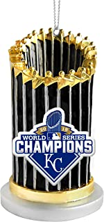 FOCO MLB Kansas City Royals 2015 World Series Champions Trophy Ornament, Blue, One Size