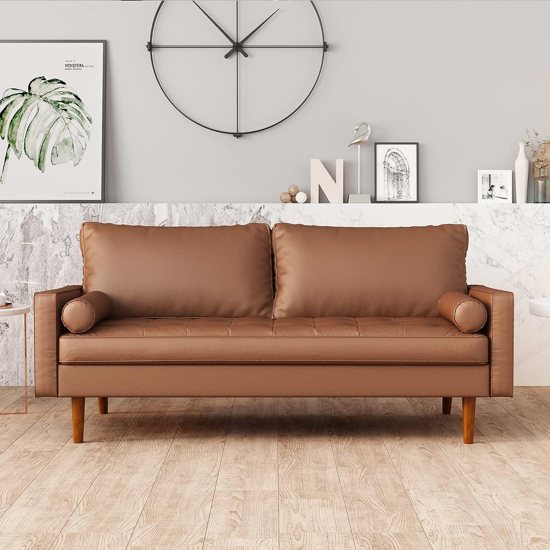 4 years warranty STARTOGOO Sofa in Brown 70