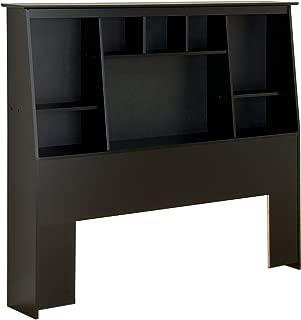 Prepac Tall Slant-Back Bookcase Headboard, Black, Full/Queen