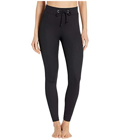 Koral Duke High-Rise Rib Leggings (Black) Women