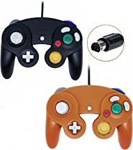 Gamecube Controller, Wired Gamepad for Nintendo Wii Console (Black and Orange)