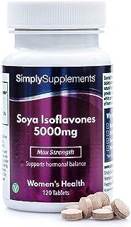 Isoflavonas de soja 5000mg - ¡Bote para 4 meses! - Apto para veganos - 120 Comprimidos - SimplySupplements