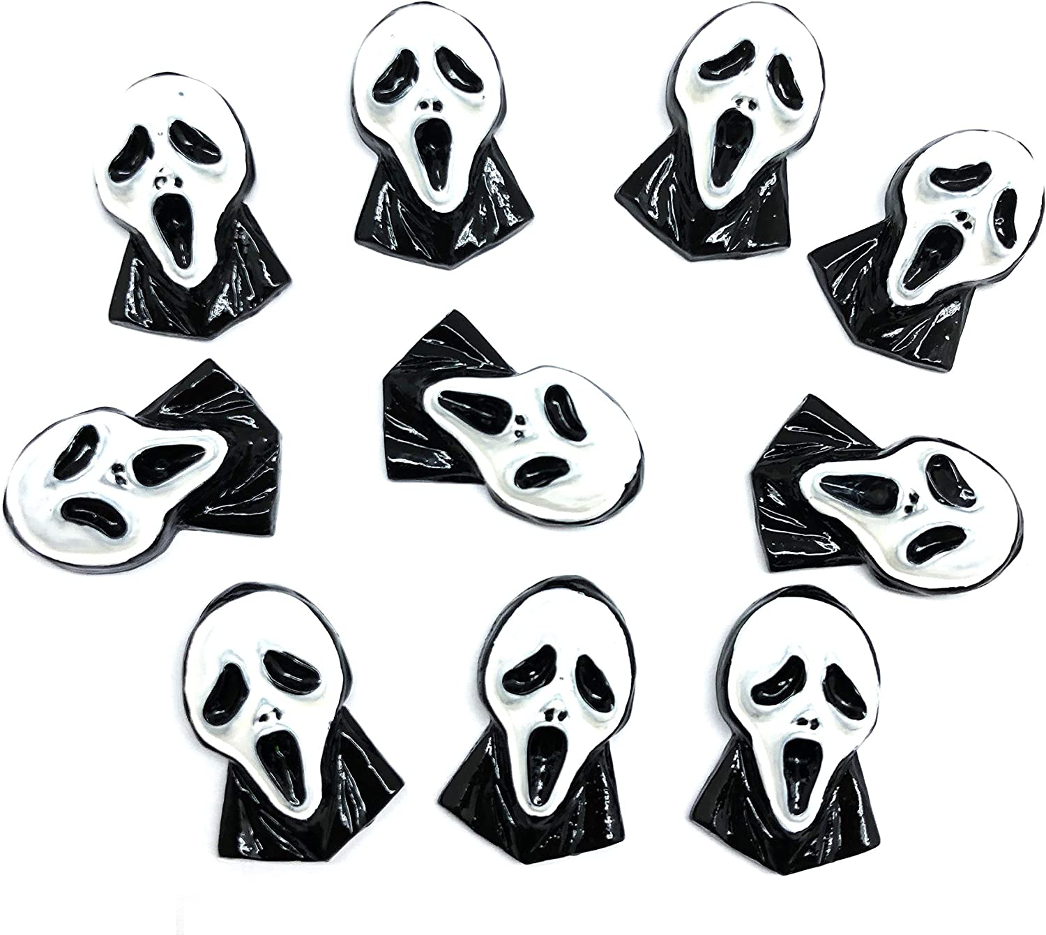 NEW before selling ☆ PEPPERLONELY 10PC Halloween Creepy Ghost Chicago Mall Flatback Cabochon Resin