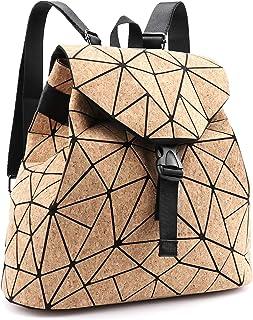 Tikea Rucksack Kork, Schulranzen Geometrische Tasche Causal Daypack Rucksackhandtasche Schultasche Studenten Buchtasche Re...