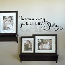 Because Every Picture Tells a Story Vinyl Lettering Wall Decal Sticker (9